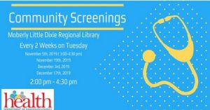 Community Screenings at Moberly Little Dixie Regional Library @ Little Dixie Regional Libraries