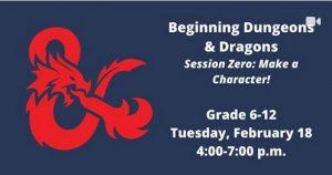 Beginning D&D: Session Zero